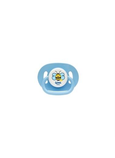 Wee Baby Wee Baby Oval Gövdeli Yuvarlak Uçlu Emzik 6-18 Ay No:2 830 Mavi
